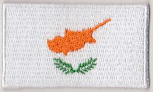Cyprus Embroidered Flag Patch, style 04.